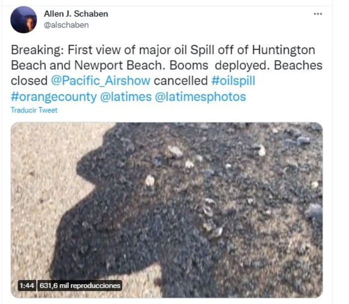 Derrame petrolero en California