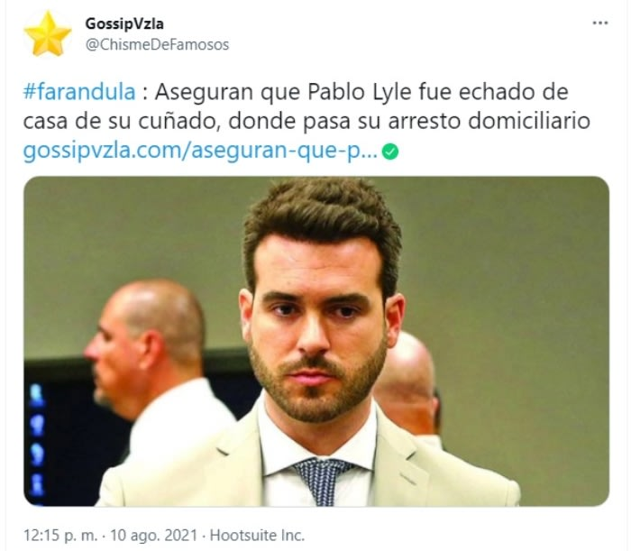 Pablo Lyle brother-in-law problems: The brother-in-law's annoyance