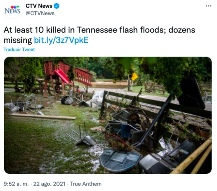 Chaos in Tennessee after floods