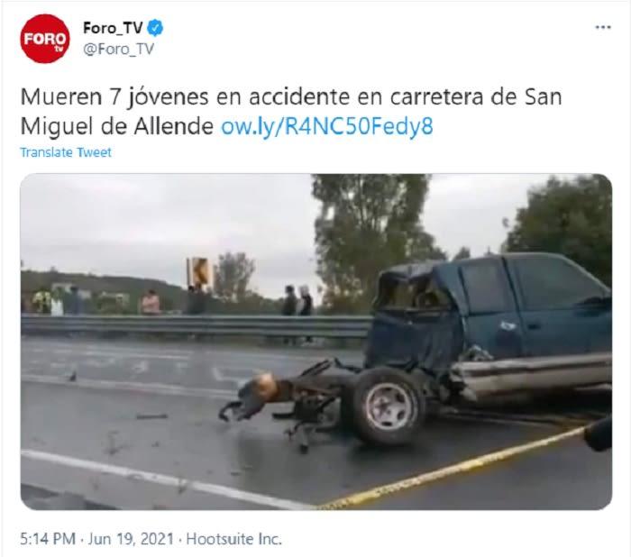 Jóvenes mexicanos habrían salido proyectados