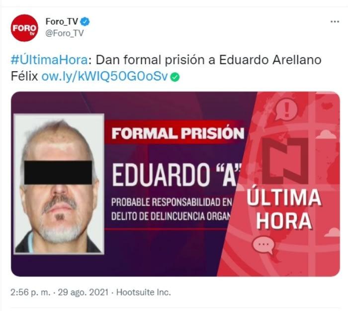 Sentencia Eduardo Arellano Félix: ¿Qué es el auto de formal prisión?