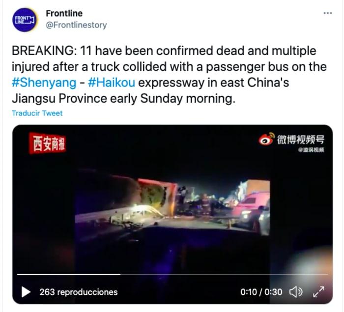 Choque en China