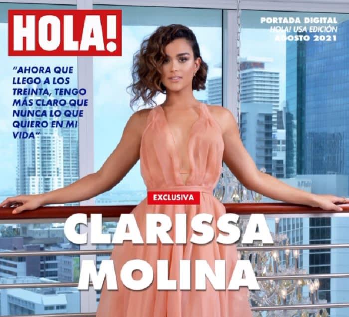 Clarissa Molina, belleza de portada de revista