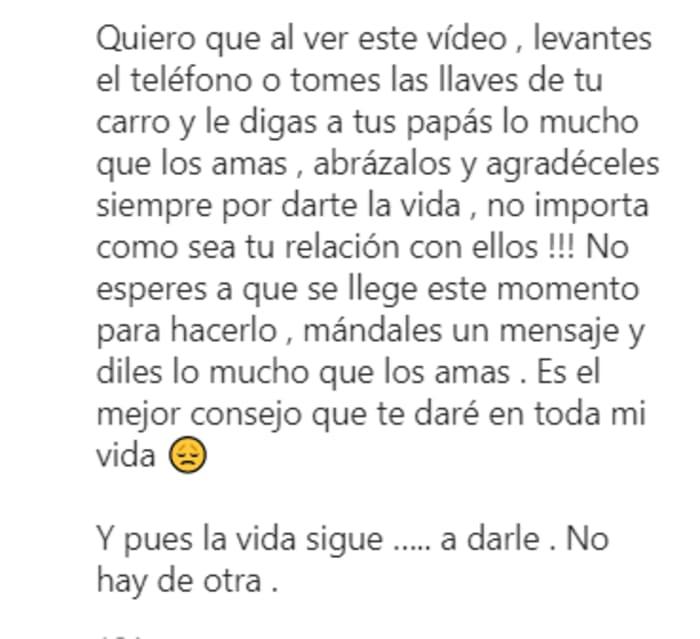 Hace un llamado al público; Mayeli Alonso muestra desgarrdor video de su papá en la carroza