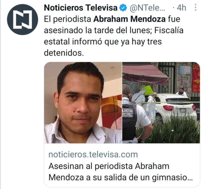 Matan a periodista mexicano