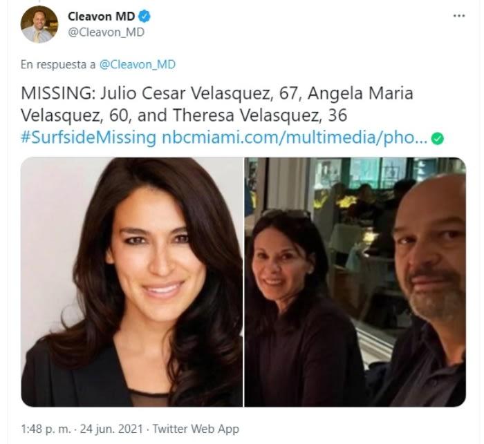 Dos mujeres en distintos casos en derrumbe de Miami