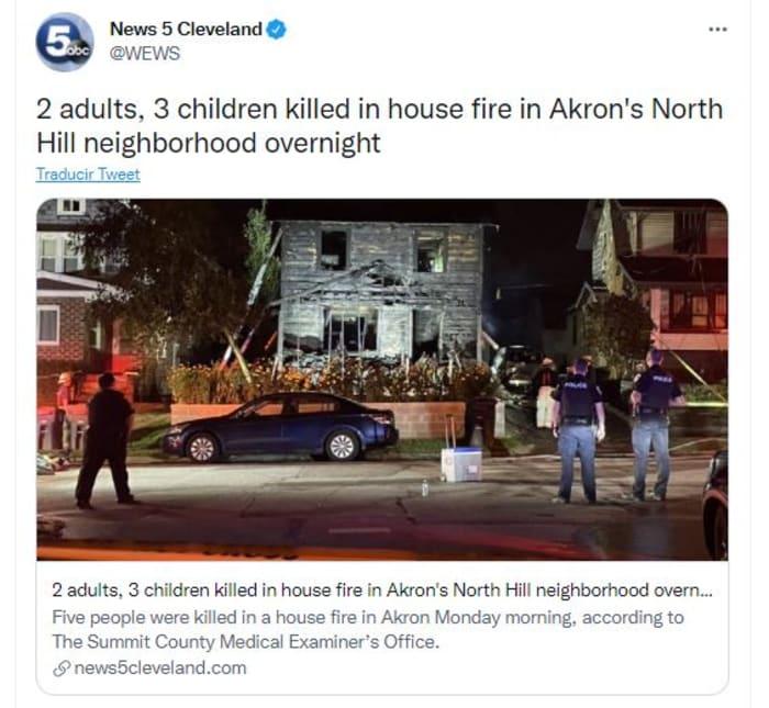 incendio en casa
