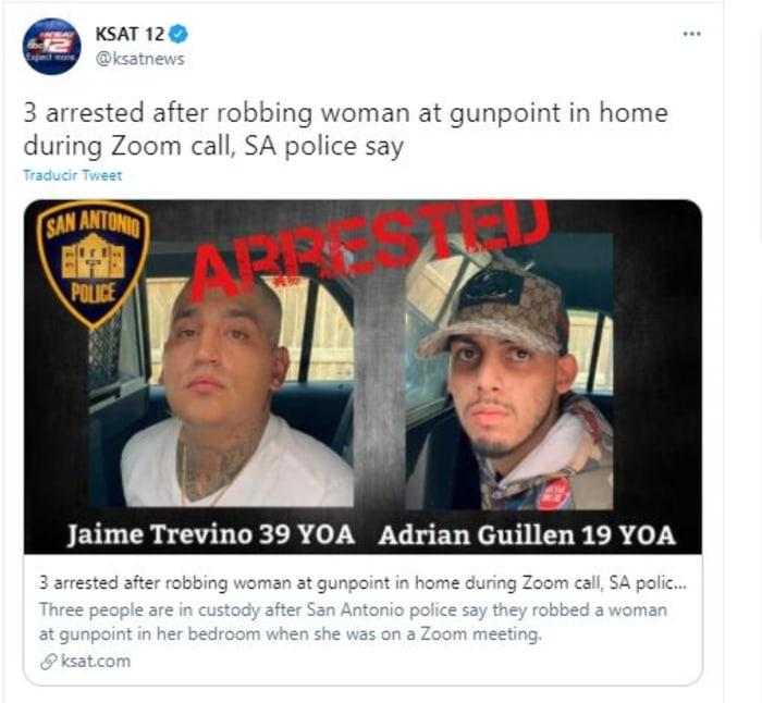 asaltaron a mujer en llamada por Zoom