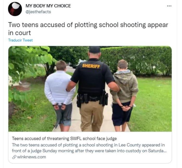 dos estudiantes de Florida