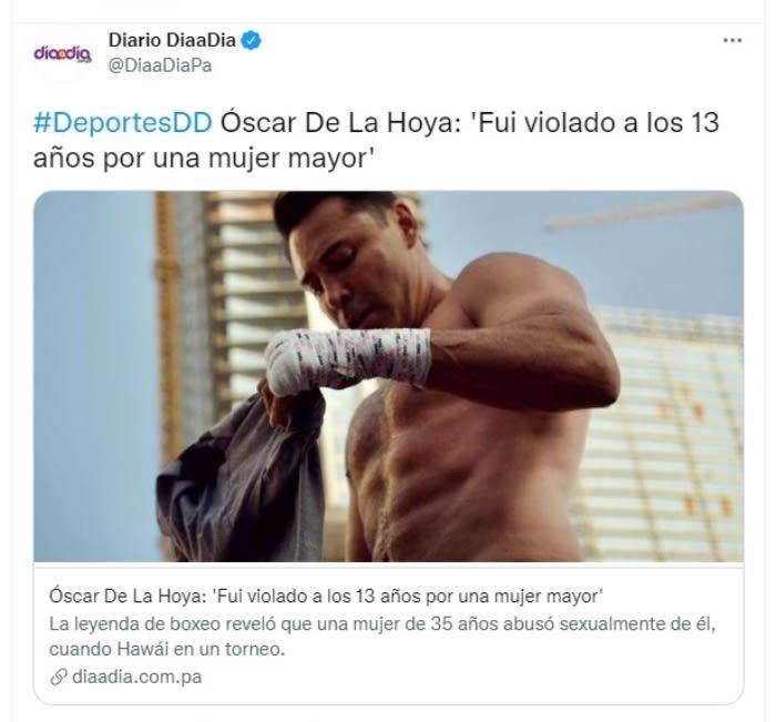 """Óscar De La Hoya violación infancia: """"Suprimí todo, reprimes todo y vives esta vida"""""""