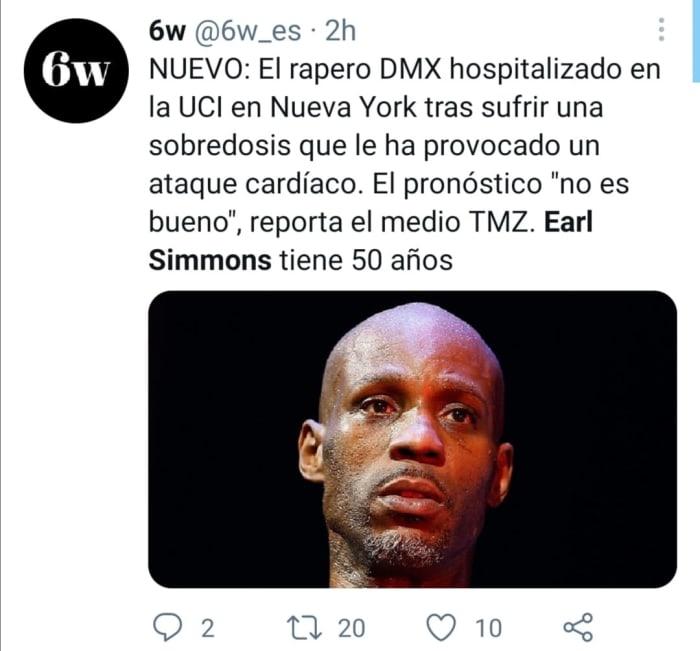 Earl Simmons DMX sobredosis