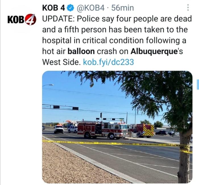 Cae globo en Albuquerque