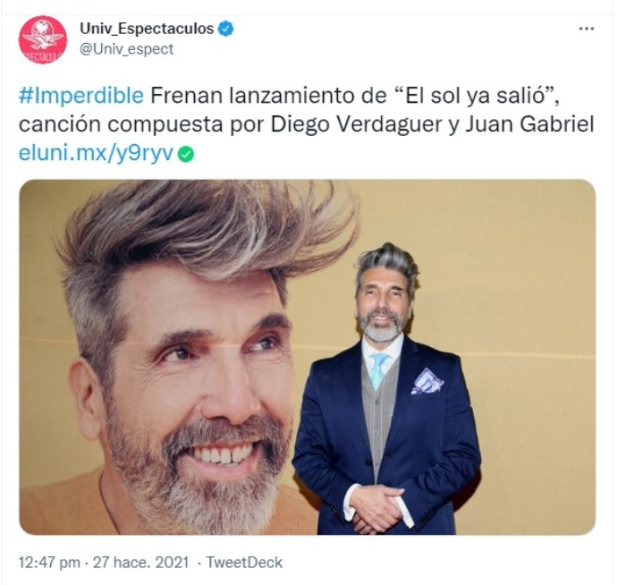 Abogado Juan Gabriel vivo: Piden suspender tema con Diego Verdaguer