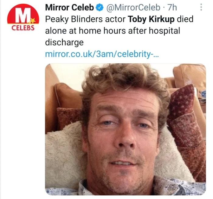 Muere actor Toby Kirkup