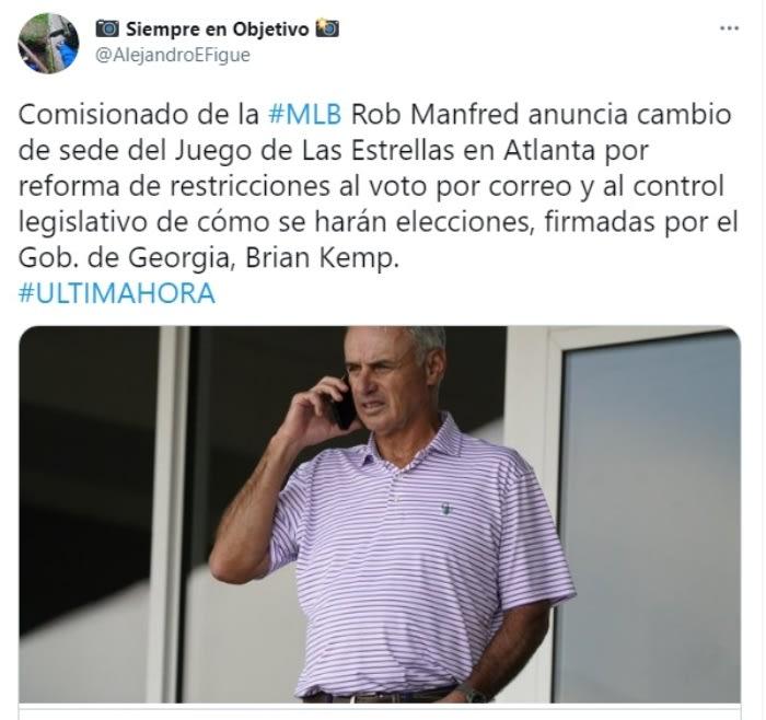 MLB Juego de estrellas Atlanta ley restringe voto