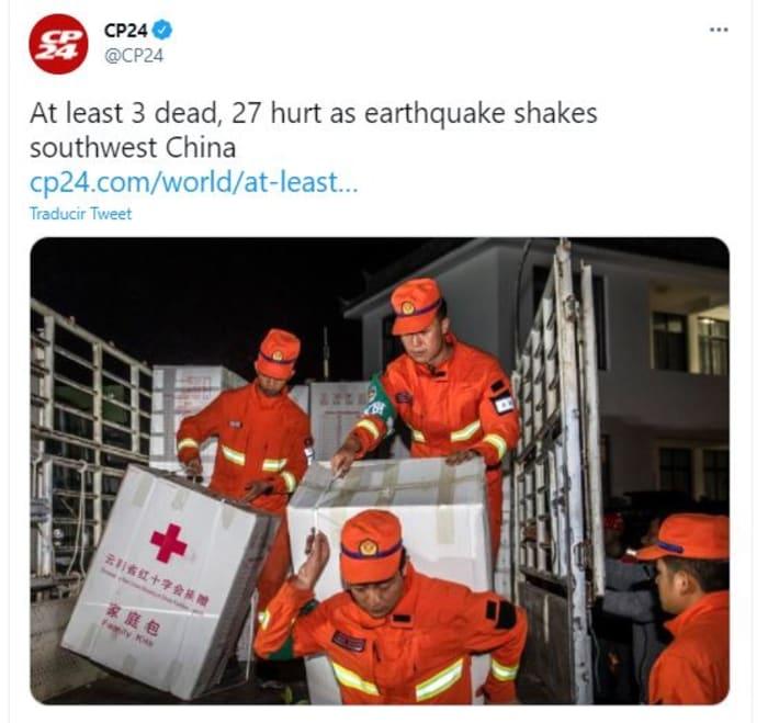sismos en China