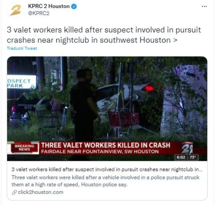 Conductor mató a trabajadores