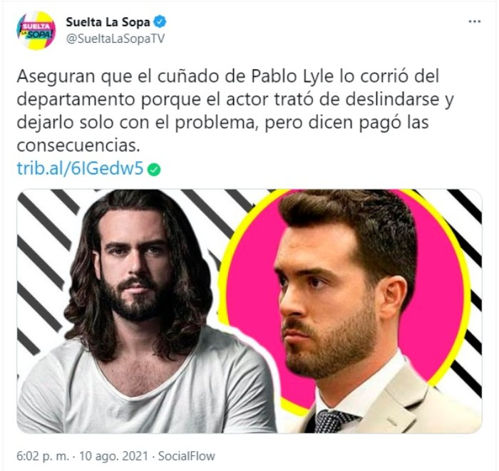 Pablo Lyle brother-in-law problems: Problems between Pablo and Lucas