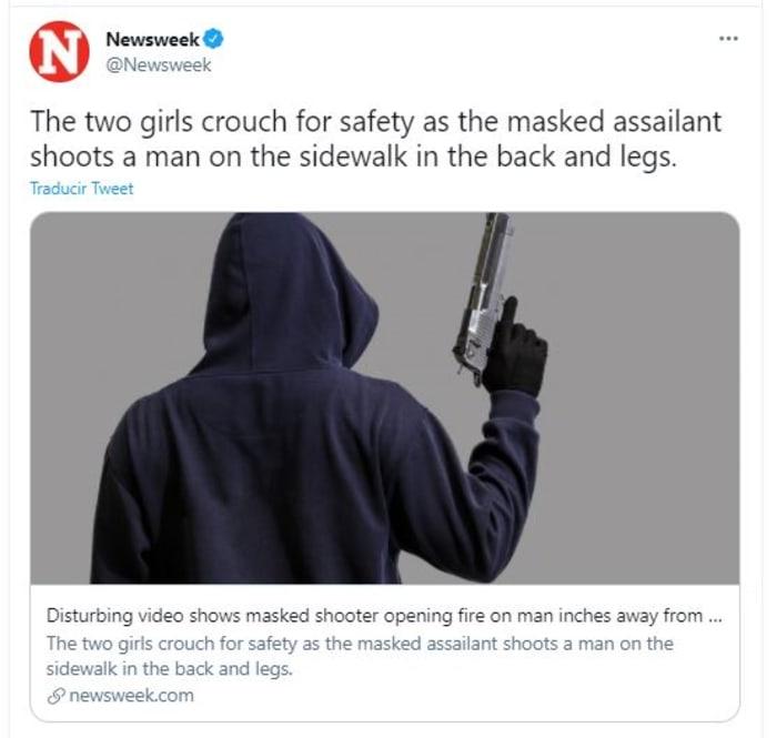 Sicario enmascarado tirotea