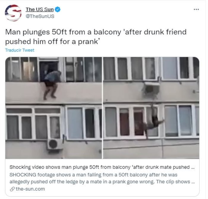 pushed his friend