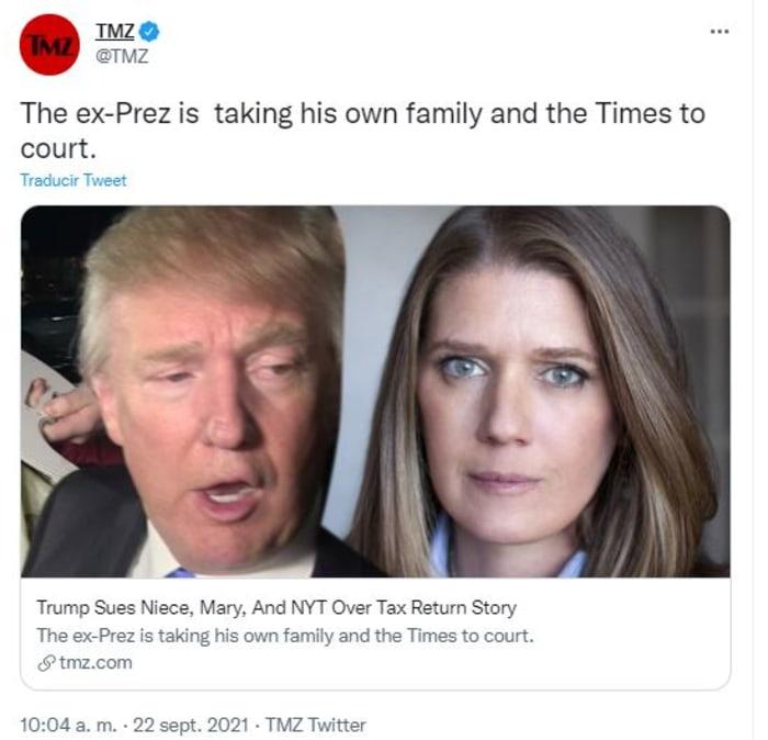 Trump sued his niece