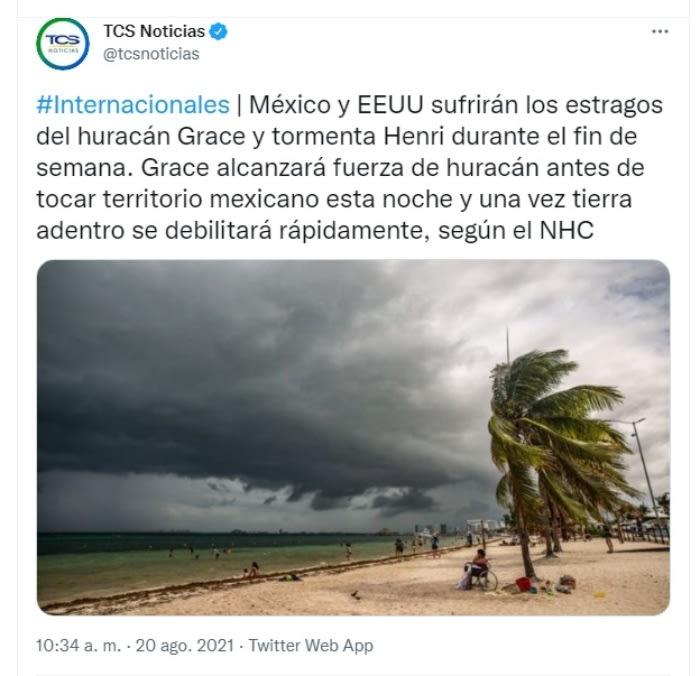 Alerta tormenta tropical Henri: Fortalecimiento de Henri