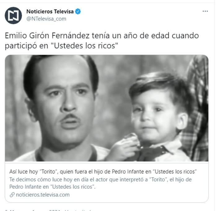 Así luce Torito Emilio Girón Fernández Pedro Infante