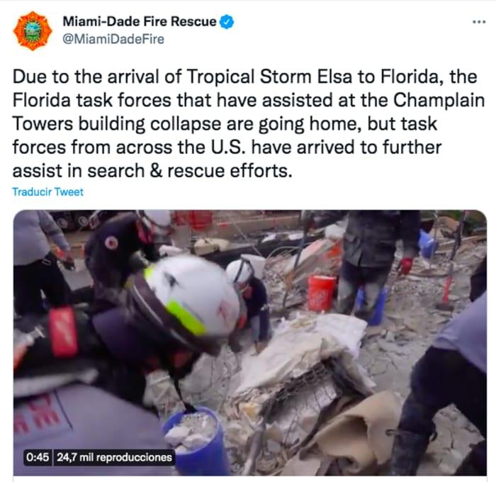 Demolición edificio Surfside Miami: Suspenden rescate