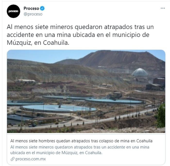Mineros atrapados mina