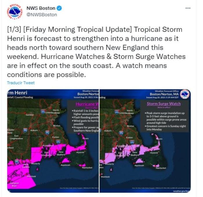 alerta de huracán