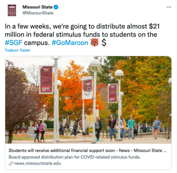 Cheque de estímulo de