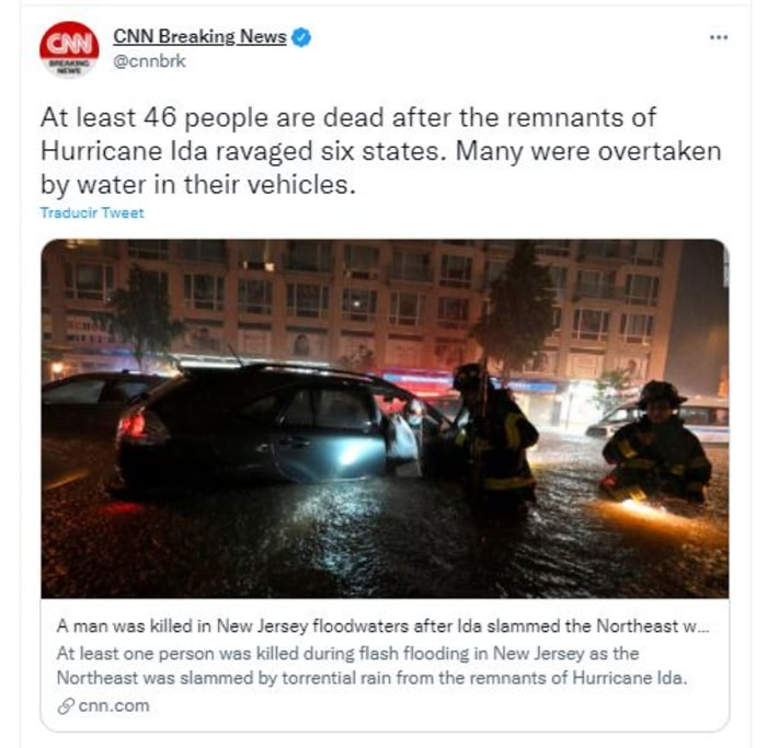 At least 46 killed by the storm