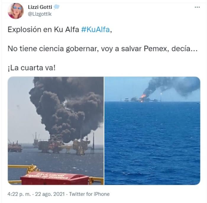 Explosión plataforma Pemex: Trabajadores fueron evacuados