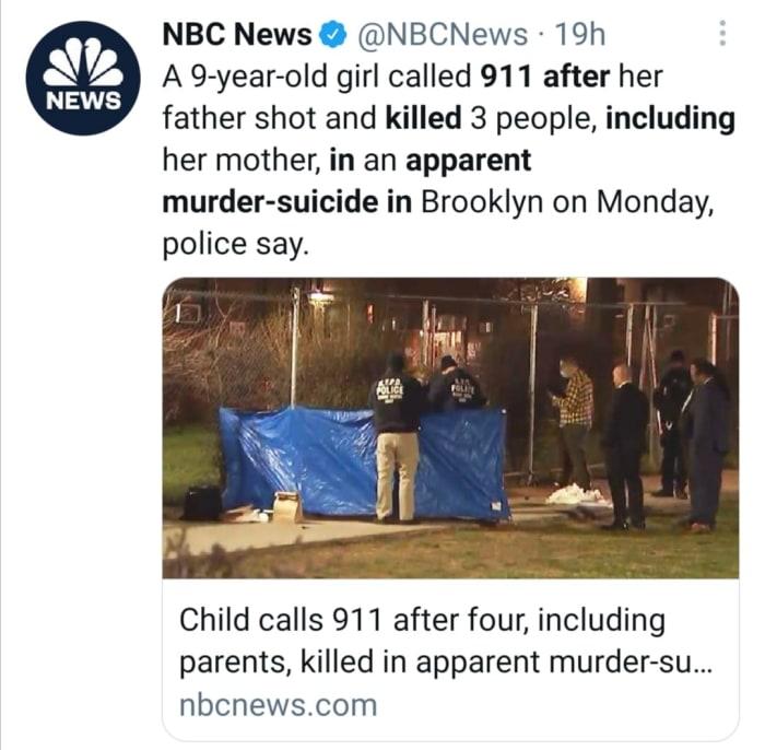 Niña 911 tiroteo Brooklyn