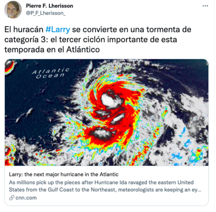 Hurricane Larry could