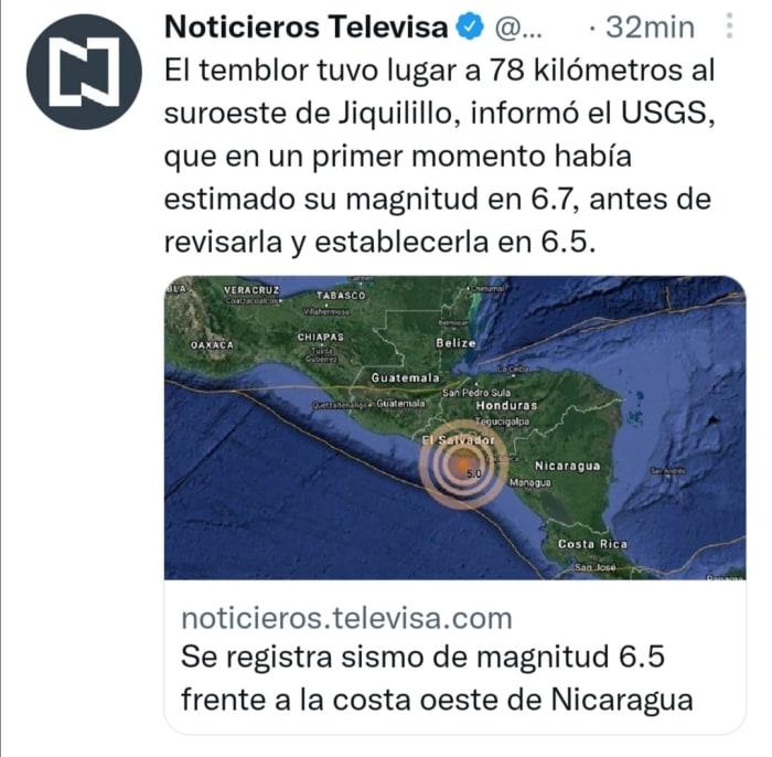 Earthquake in Nicaragua