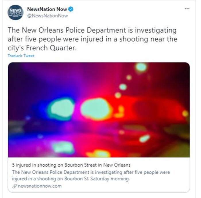 tiroteo en Nueva Orleans