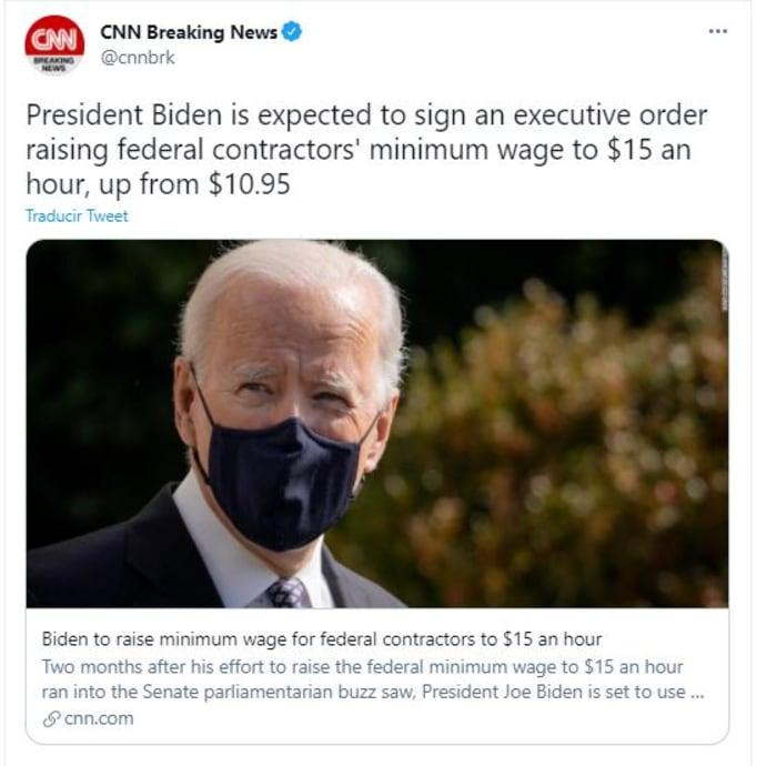Biden firmará salario