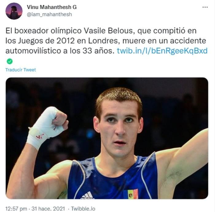 Muere boxeador Vasile Belous
