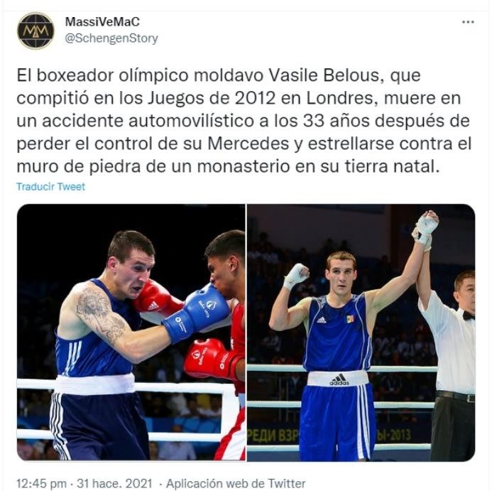 Muere boxeador Vasile Belous: Una corta pero gran carrera