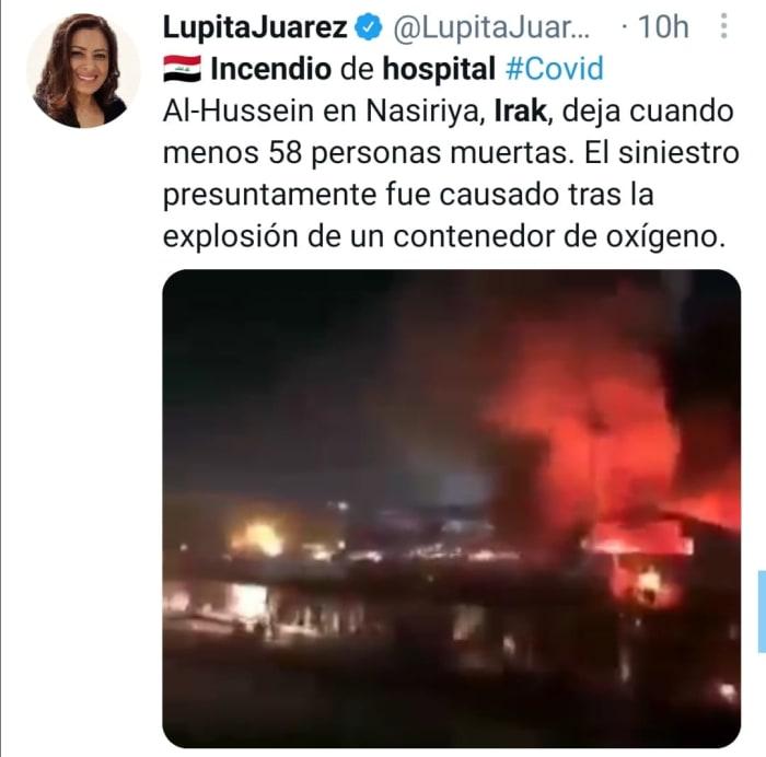 Incendio en Irak