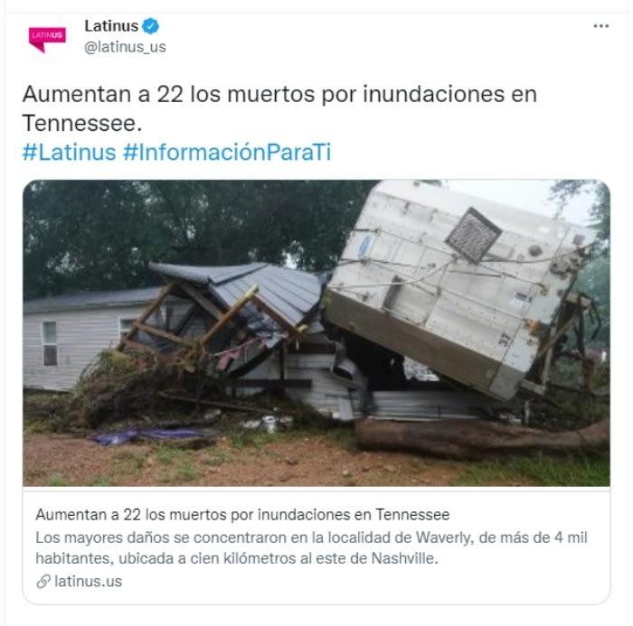 Muertos inundaciones Tennessee