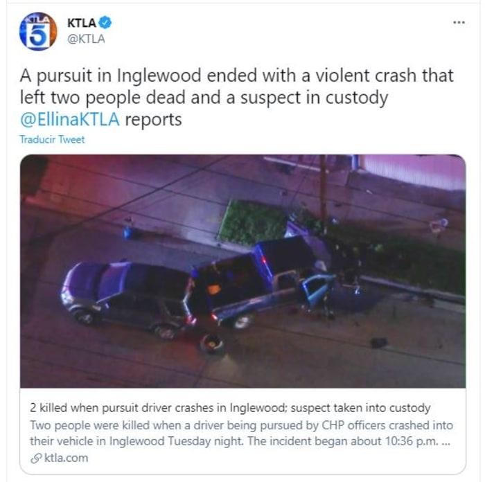 conductor mató a dos