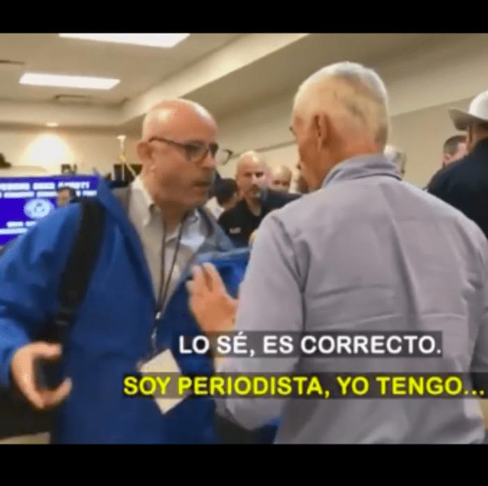 Jorge Ramos se encuentra a Trump en Texas