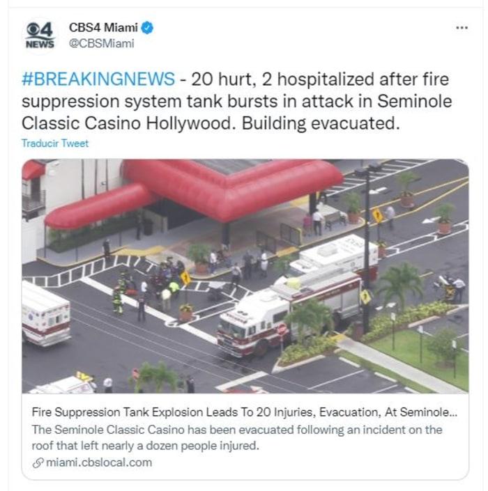 explosión en casino