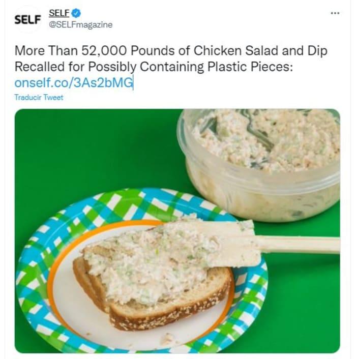 'recall' de ensaladas de pollo