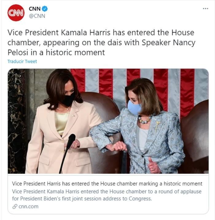 Kamala Harris hace historia Nancy Pelosi Joe Biden 2