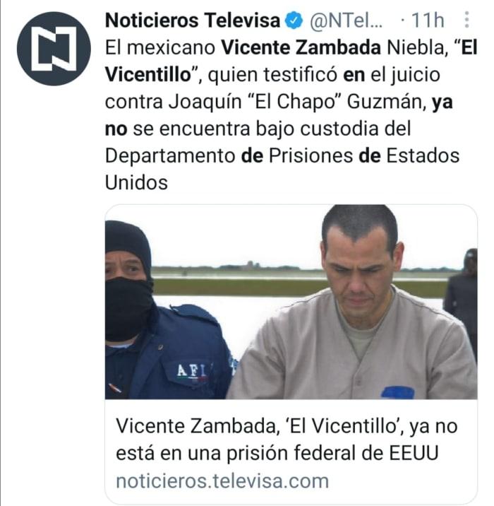 Vicente Zambada prisión