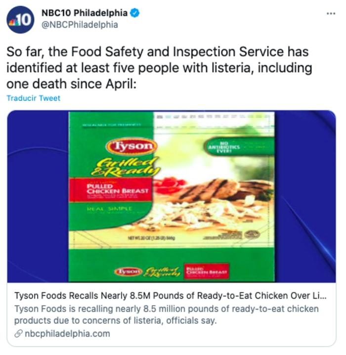 Tyson Foods ordena recall