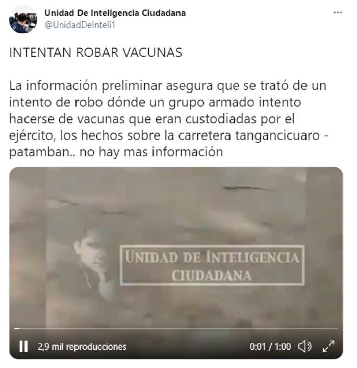 Narcos robar vacunas coronavirus